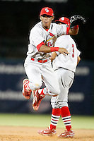 July 13, 2009:  Shortstop Domnit Bolivar of the Palm Beach Cardinals during a game at Hammond Stadium in Ft. Myers, FL.  Palm Beach is the Florida State League High-A affiliate of the St. Louis Cardinals.  Photo By Mike Janes/Four Seam Images