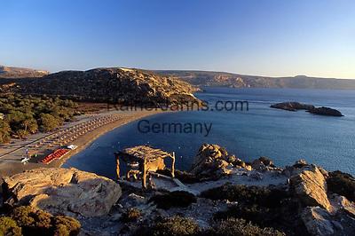 Griechenland, Kreta, Sonnenaufgang in der Bucht Vai mit Palmenstrand und Badebucht im Osten Kretas | Greece, Crete, sunrise at Bay Vai with palm trees and beach on the east coast