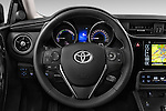 Car pictures of steering wheel view of a 2015 Toyota Auris Touring Sports Business Plus 5 Door Wagon Steering Wheel