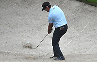 11th July 2021, Silvis, IL, USA; Hank Lebioda hits out of a sand trap on the #6 hole during the final round of the John Deere Classic on July 11, 2021, at TPC Deere Run, Silvis, IL.