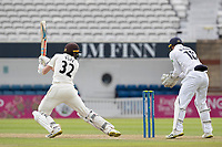Ollie Pope drives square of the wicket during Surrey CCC vs Hampshire CCC, LV Insurance County Championship Group 2 Cricket at the Kia Oval on 30th April 2021