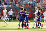 Women's Japan National team group line-up (JPN), JULY 1, 2015 - Football / Soccer : Japan team celebrates after scoring team's 1st goal during the FIFA Women's World Cup Canada 2015 Semi-final match between Japan and England at Commonwealth Stadium in Edmonton, Canada. (Photo by Yusuke Nakanishi/AFLO SPORT)