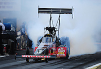 Sept. 30, 2011; Mohnton, PA, USA: NHRA top fuel dragster driver Doug Kalitta during qualifying for the Auto Plus Nationals at Maple Grove Raceway. Mandatory Credit: Mark J. Rebilas-