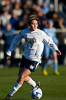Notre Dame Fighting Irish midfielder Courtney Barg (17). The North Carolina Tar Heels defeated the Notre Dame Fighting Irish 2-1 during the finals of the NCAA Women's College Cup at Wakemed Soccer Park in Cary, NC, on December 7, 2008. Photo by Howard C. Smith/isiphotos.com