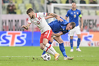 Danzica Nations League Gruppo A Polonia Italia Football - UEFA Nations League group A match Poland - Italy N/Z MATEUSZ KLICH ANDREA BELOTTI FOT MATEUSZ SLODKOWSKI / FOTONEWS / NEWSPIX.PL --- Newspix.pl PUBLICATIONxNOTxINxPOL 20201011FNMS31 <br /> ITALY ONLY