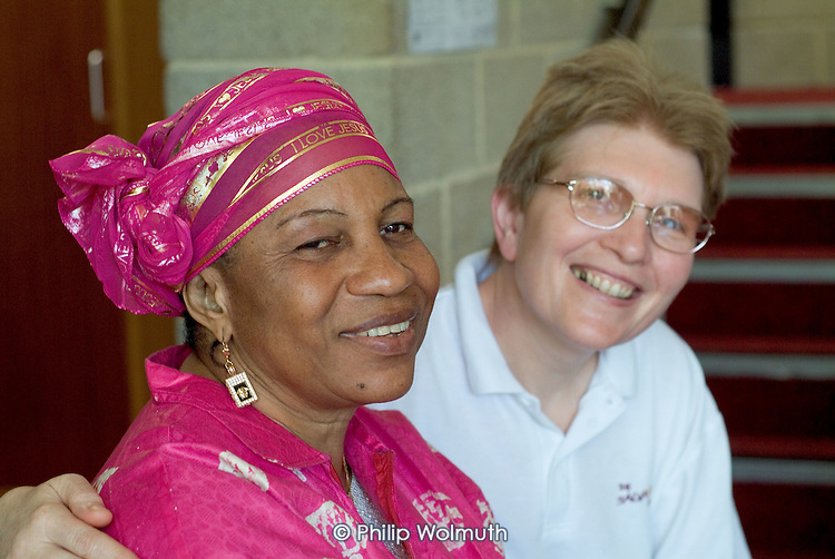 Drop in session for refugees and asylum-seekers at St.Mary's Church Centre drop-in, Dover.