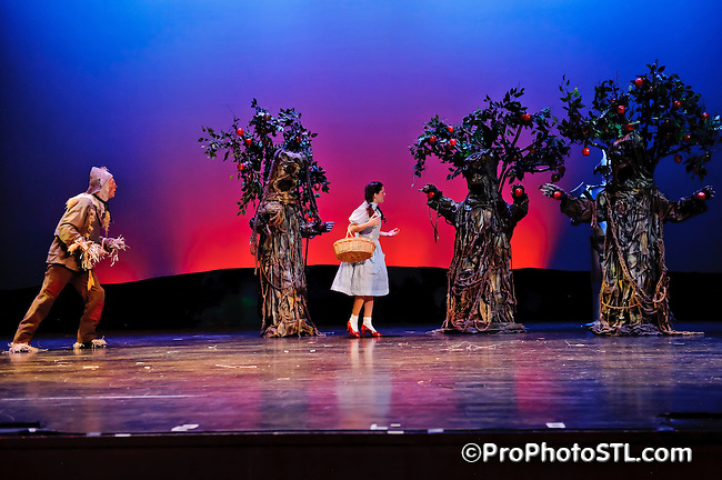 The Wizard of Oz presented by Variety Children's Theatre at Anheuser - Busch Performance Hall of The Blanche M. Touhill Performing Arts Center on the campus of the University of Missouri in St. Louis on Oct 21, 2011.