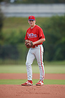 Philadelphia Phillies pitcher Spencer Howard (15) gets ready to deliver a pitch during an Instructional League game against the Toronto Blue Jays on September 30, 2017 at the Carpenter Complex in Clearwater, Florida.  (Mike Janes/Four Seam Images)