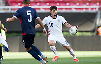 ZAPOPAN, MEXICO - MARCH 21: Johnny Cardoso #16 of the United States moves to the ball during a game between Dominican Republic and USMNT U-23 at Estadio Akron on March 21, 2021 in Zapopan, Mexico.