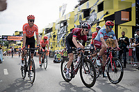 Defendinding Tour Champion Geraint Thomas (GBR/Ineos) crossing the finish line in a 2nd group (after a crash split the peloton in the race finale)<br /> <br /> Stage 1: Brussels to Brussels(BEL/192km) 106th Tour de France 2019 (2.UWT)<br /> <br /> ©kramon