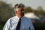 April 12, 2014: Trainer Steve Asmussen before the running of the Arkansas Derby at Oaklawn Park in Hot Springs, AR. Justin Manning/ESW/CSM