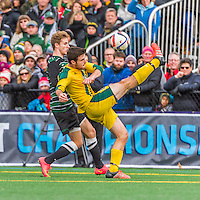 15 November 2015: University of Vermont Catamount Forward Eamon Kitson, a Sophomore from Rumson, NJ, in action against the Binghamton University Bearcats at Virtue Field in Burlington, Vermont. The Catamounts shut out the Bearcats 1-0 in the America East Championship Game. Mandatory Credit: Ed Wolfstein Photo *** RAW (NEF) Image File Available ***
