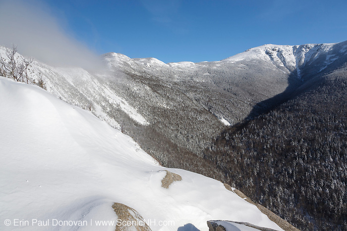 Mount Lafayette from the Old Bridle Path in the White Mountains, New Hampshire during the winter months.