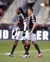 Sebastien Le Toux, Keon Daniel.  Sporting Kansas City defeated Philadelphia Union, 3-1. at PPL Park in Chester, PA.