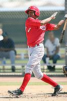 Yorman Rodriguez, Cincinnati Reds minor league spring training..Photo by:  Bill Mitchell/Four Seam Images.
