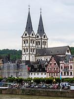 St. Severus, Boppard, Rheinland-Pfalz, Deutschland, Europa, UNESCO Weltkulturerbe<br /> St. SeverusBoppard, Rhineland-Palatinate, Germany, Europe