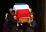 Former French president Jacques Chirac Funeral at the Eglise Saint-Sulpice (St Sulpitius' Church) in Paris, France on September 30, 2019,