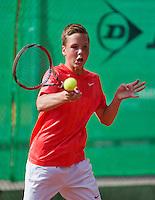 August 9, 2014, Netherlands, Rotterdam, TV Victoria, Tennis, National Junior Championships, NJK,  Stijn Janssen (NED)<br /> Photo: Tennisimages/Henk Koster