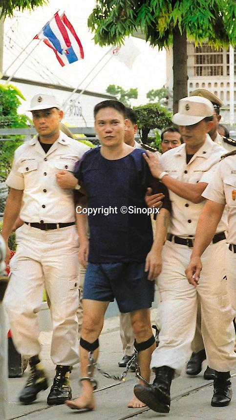 Drug smuggler, Lee Yuang Kwan, from Hong Kong who was executed April 2001 by Chawalate Jarubun of Bangkwang Central prison.