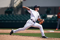 Detroit Tigers pitcher Beau Brieske (4) during a Minor League Spring Training game against the Baltimore Orioles on April 14, 2021 at Joker Marchant Stadium in Lakeland, Florida.  (Mike Janes/Four Seam Images)