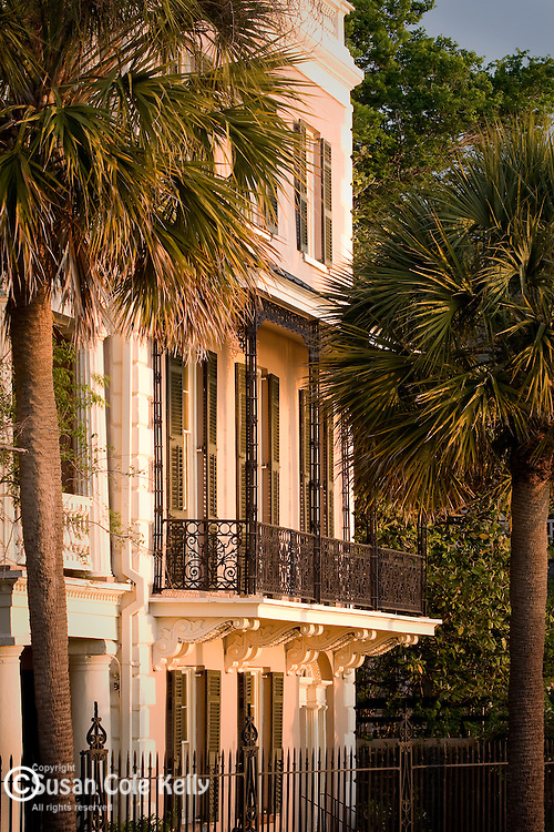 A majestic facade in the Battery district,  Charleston, SC, USA