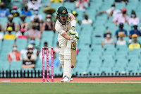 7th January 2021; Sydney Cricket Ground, Sydney, New South Wales, Australia; International Test Cricket, Third Test Day One, Australia versus India; Will Pucovski of Australia faces his first ball on debut