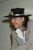August 29 1986  File Photo - Montreal (Qc) CANADA - Stevie Ray Vaughn at Montreal Miller Music Fest held at Jarry Park