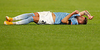 Lazio s Sergej Milinkovic-Savic lies the pitch after being injured during the Serie A soccer match between Lazio and Hellas Verona at Rome's Olympic Stadium, December 12, 2020.<br /> UPDATE IMAGES PRESS/Riccardo De Luca