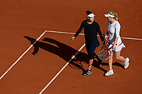 11th October 2020, Roland Garros, Paris, France; French Open tennis, Womens Doubles final 2020; Alexa Guarachi Chi and Desirae Krawczyk USA