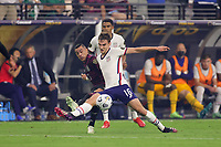 LAS VEGAS, NV - AUGUST 1: James Sands #16 of the United States during a game between Mexico and USMNT at Allegiant Stadium on August 1, 2021 in Las Vegas, Nevada.
