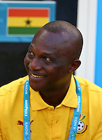 Ghana coach James Appiah smiles