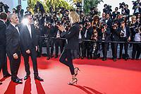 Karel Och, Reda Kateb et Uma Thurman, sur le tapis rouge pour la projection du film D APRES UNE HISTOIRE VRAIE, hors competition lors du soixante-dixième (70ème) Festival du Film à Cannes, Palais des Festivals et des Congres, Cannes, Sud de la France, samedi 27 mai 2017.