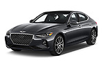 2020 Genesis G70 Prestige 4 Door Sedan Angular Front automotive stock photos of front three quarter view