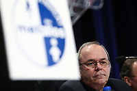 FTQ president Michel Arsenault listens during a speech at the  Steelworkers' convention at the Chateau Frontenac in Quebec City November 19, 2010. November 19, 2010.<br /> <br /> PHOTO :  Francis Vachon - Agence Quebec Presse