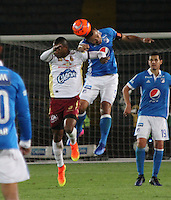 BOGOTA -COLOMBIA, 22-02-2017.Action game beteween  Millonarios  and Tolima  during match for the date 5 of the Aguila League I 2017 played at Nemesio Camacho El Campin stadium . Photo:VizzorImage / Felipe Caicedo  / Staff