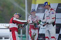 #1: Paul Miller Racing Lamborghini Huracan GT3, GTD: Madison Snow, Bryan Sellers, #9: Pfaff Motorsports Porsche 911 GT3R, GTD: Zacharie Robichon