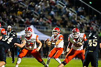 Tyler Gee (8) of  Cabot goes back in the pocket against Bentonville at Tiger Stadium, Bentonville, Arkansas on Friday, November 20, 2020 / Special to NWA Democrat-Gazette/ David Beach