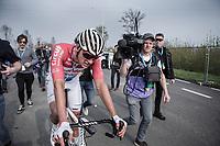 Mathieu Van der Poel (NED/Corendon Circus) after finishing 4th place<br /> <br /> 103rd Ronde van Vlaanderen 2019<br /> One day race from Antwerp to Oudenaarde (BEL/270km)<br /> <br /> ©kramon