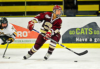 16 October 2010: Boston College Eagles' forward Alison Szlosek, a Junior from Bedford, MA, in action against the University of Vermont Catamounts at Gutterson Fieldhouse in Burlington, Vermont. The Eagles defeated the Lady Cats 4-1 in the second game of their weekend series. Mandatory Credit: Ed Wolfstein Photo