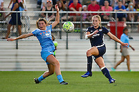 Piscataway, NJ - Saturday Aug. 27, 2016: Arin Gilliland, Leah Galton during a regular season National Women's Soccer League (NWSL) match between Sky Blue FC and the Chicago Red Stars at Yurcak Field.