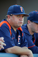 March 27, 2010: Dave Serrano, head coach of Cal. St. Fullerton, before game against Hawaii at Goodwin Field in Fullerton,CA.  Photo by Larry Goren/Four Seam Images