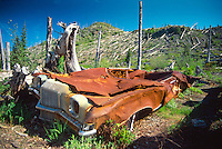 Miner's Car, Mt. St. Helens National Volcanic Monument, Washington, US