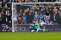 Saturday, 9 March 2013<br /> <br /> Pictured: Michel Vorm of Swansea City saves Romelu Lukaku of West Bromwich Albion's penalty<br /> <br /> Re: Barclays Premier League West Bromich Albion v Swansea City FC  at the Hawthorns, Birmingham, West Midlands