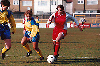 Kelly Smith of Wembley during Doncaster Belles vs Wembley Ladies, FA Women's Premier League Cup Final Football at Underhill, Barnet FC on 10th March 1996