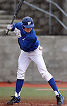Wildcats' Conor Harber gets hit by a pitch in the first game of a doubleheader against South Mountain Community College, at WNC in Carson City, Nev., on Friday, Jan. 25, 2013. WNC won the first game 5-1..Photo by Cathleen Allison