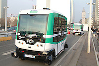 Navettes autonomes RATP lancement d'une expÈrimentation pont de Charles de Gaulle Paris 23/01/2017
