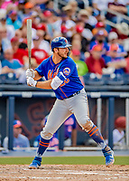 7 March 2019: New York Mets top prospect first baseman Pete Alonso in action during a Spring Training Game against the Washington Nationals at the Ballpark of the Palm Beaches in West Palm Beach, Florida. The Nationals defeated the visiting Mets 6-4 in Grapefruit League, pre-season play. Mandatory Credit: Ed Wolfstein Photo *** RAW (NEF) Image File Available ***