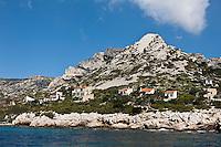 Europe/France/Provence-Alpes-Côte d'Azur/13/Bouches-du-Rhône/Marseille:  Cabanons de la Calanque de Morgiou