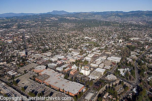 aerial photograph Santa Rosa, Sonoma County, California