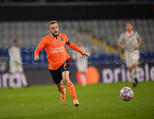 4th November 2020, Basaksehir Fatih Stadium, Istanbul, Turkey; UEFA Champions League football,  Basaksehir versus manchester United;   Edin Visca of Basaksehir